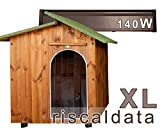 Canil para o amor - canil de madeira aquecido - muito grande (80x110cm) ...