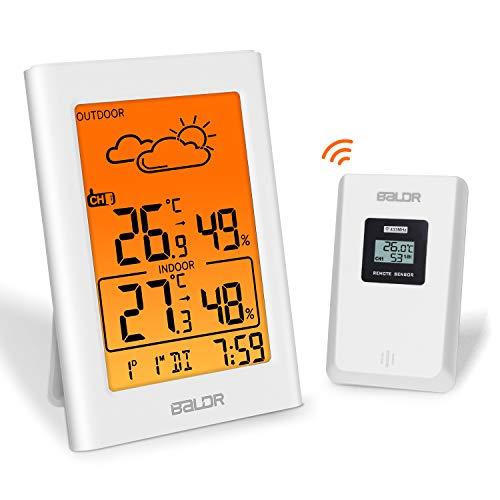 Estação meteorológica sem fio ESOLOM, termômetro, higrômetro ...
