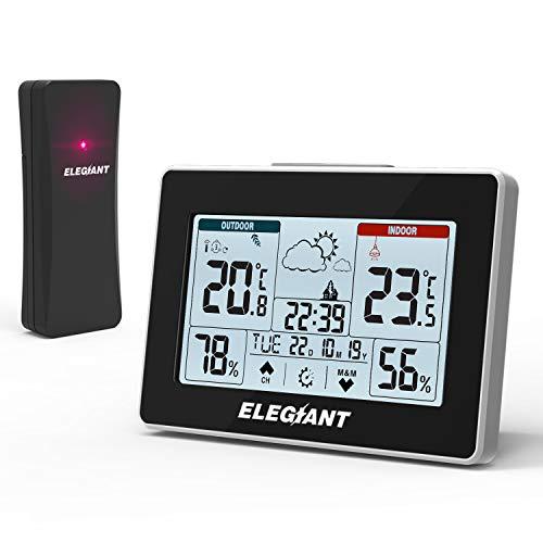 ELEGIANT estação meteorológica termômetro higrômetro interno ...