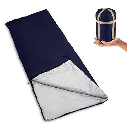 Saco de dormir Bessport com saco de compressão, 3 temporadas, ...