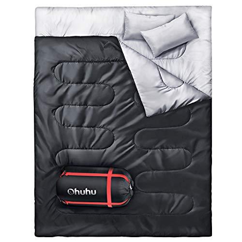 Saco de dormir duplo Ohuhu, Nior com 2 travesseiros e um ...