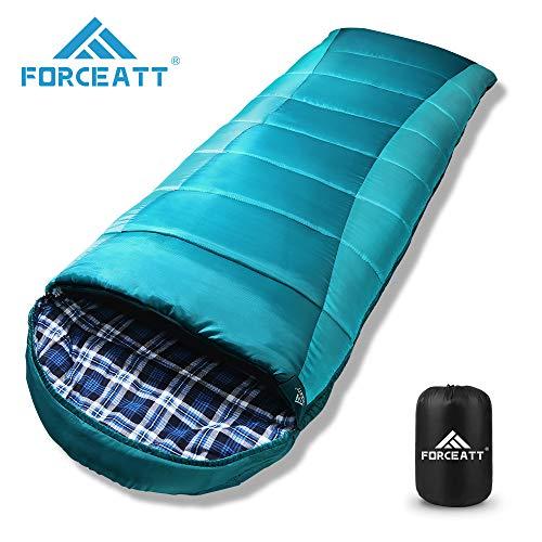 Saco de dormir de flanela de acampamento da Forceatt, ...