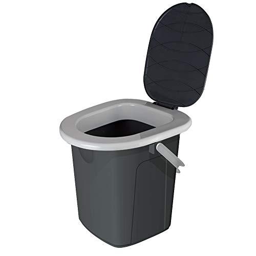 Toalete Branq toalete de acampamento para viagens, cinza, M.