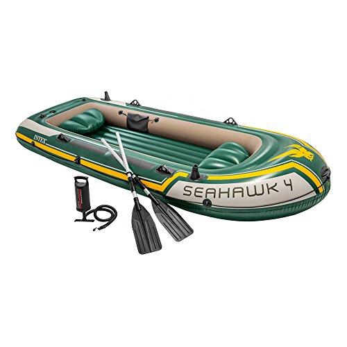 Conjunto de barco INTEX Seahawk 4 4 assentos (leme e inflador ...