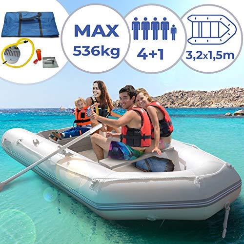 Barco inflável Jago para 4 pessoas - 320 x 152 cm, incl ...