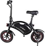 Bicicleta elétrica dobrável Windgoo 36V - 12 'E-bike, atualização para bicicleta elétrica urbana leve adulta (preta)