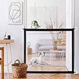 Portão portátil e dobrável para cães para separar o bebê dos animais de estimação, portões de segurança reposicionáveis