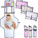 Travesseiro portátil dobrável para trocador de viagem, MODELO NOVO 2020, trocador e trocador, adequado para bebês e crianças com porta-biberões incluído