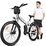 ANCHEER Bicicleta Elétrica Dobrável, Bicicleta Dobrável Adulto 26