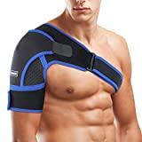 Órtese de ombro para direito e esquerdo, bandagem SGODDE ajustável para apoiar ...