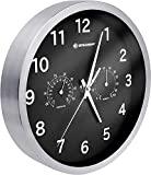 Relógio de parede térmico / higrômetro Bresser Mytime 25cm - preto