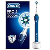 Oral-B Pro 2 2000 escova de dentes elétrica recarregável, 1 escova de dentes com sensor ...