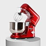KLARSTEIN TK1 Bella Rossa - processador de alimentos, batedeira, amassadeira, 1200 W, 1,6 ...