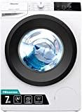Hisense WFGE7012V Máquina de lavar autônoma de carregamento frontal, capacidade de 7 kg, 2000 ...