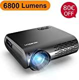 Projetor de vídeo, projetor WiMiUS 6800 Lumen Native 1080P LED Full HD com 300 '' ...
