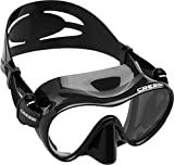 Máscara Cressi F1, máscara de mergulho sem moldura feita de vidro temperado, preta