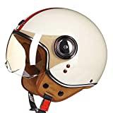 Capacete SCH com capacete de motocicleta de rosto aberto com capacete de piloto vintage de rosto aberto Vespa cruiser ...