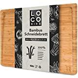 Tábua de corte de bambu sólido Loco Bird com ranhura de suco - placa de corte ...
