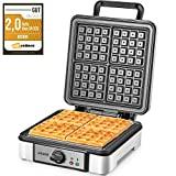 Prato para waffles belga 1200W Aicook, ferro para waffles de 4 fatias, máquina para ...