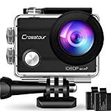 """Câmera de ação crosstour, câmera esportiva WiFi 14MP 2 """"LCD Full HD à prova d'água 2 ..."""
