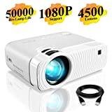 Mini projetor portátil Elephas 4500 lúmen, projetor de vídeo Full HD 1080P, ...