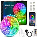 Fita LED de 6 metros, fita LED Bonve Pet 5050 RGB, controle de aplicação e ...
