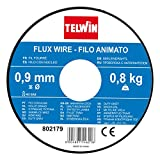 Fio espiral animado Telwin 802179 para soldagem, 0,9 mm - 0,8 kg, cinza