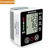 Monitor digital recarregável de pressão arterial de pulso BROADCARE USB ...