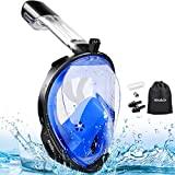 Máscara de snorkel MOSFIATA 180 ° facial para adultos, ...