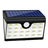 Luzes solares para exteriores, 28 luzes LED solares para jardim, luzes 300 LM para jardim ...