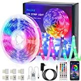 TVLIVE Bluetooth 5M LED strip 5050 RGB, luzes de câmera listradas com 40 botões ...