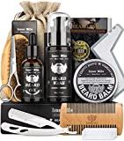 Kit de barba masculino atualizado, kit de ferramentas para aparar e aparar ...