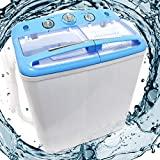 Máquina de lavar Wiltec mini camping camping max 5,2 kg com centrífuga de 200 watts ...