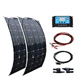 XINPUGUANG Kit de painel solar 200w 2pcs 100w 18v Painéis solares flexíveis ...