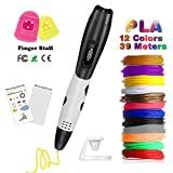 Caneta 3D com tela LCD, caneta Faith 3D com 12 filamentos PLA adicionais de 1,75 mm ...