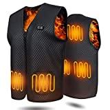 Colete aquecido EEIEER masculino e feminino, colete aquecido USB 10000mAh ...
