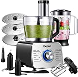 Máquina de cozinha Decen 1100W, máquina de cozinha multifunções compacta com 3 ...