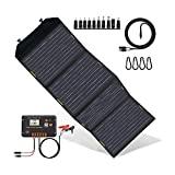 Kit de painel solar dobrável de 120 W atualizado ECO-WORTHY com controlador ...