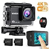 Câmera de ação WiMiUS AI8000 4K WIFI HD 16MP com tela sensível ao toque à prova d'água ...