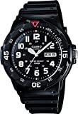 Casio relógio masculino analógico de quartzo com pulseira de resina MRW-200H-1BVEF