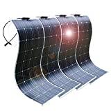 DOKIO 4pcs 100W 12V Painel Solar Fotovoltaico Monocristalino Flexível ...
