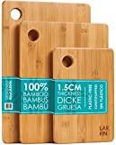 Tábuas de corte de madeira extra grossas de alta qualidade - conjunto de 3 tábuas de corte de bambu ...