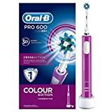 Oral-B PRO 600 CrossAction Purple Edition Brown - Escova de dentes elétrica ...