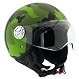 Capacete de motocicleta EGLEMTEK Demi Jet Scooter Custom Camo Camo ECE R22-05 aprovado ...