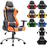 CLP Miracle XL Gaming Chair feita de couro sintético - cadeira de corrida com 2 almofadas    ...