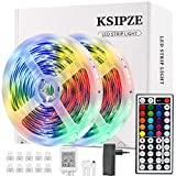Ksipze LED Strip 10M RGB Luzes LED coloridas LED Strip Light com 44 teclas ...