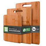 Conjunto de 3 tábuas de corte em bambu maciço Loco Bird - 33x22 / 28x22 / 15x22cm -...