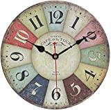 Relógio de parede, relógio de parede vintage multicolorido francês moderno em ...