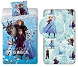 Frozen Sisters Family 3 Pieces Conjunto de cama de solteiro Capa de edredon + fronha + roupa de cama ...