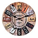 Relógio de parede moderno, grande relógio de parede da cozinha Oderni de 30 cm, ...